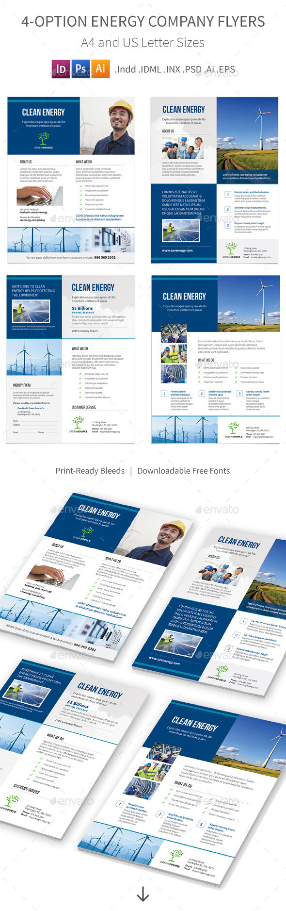 GraphicRiver Energy Company Flyers 4 Options 11610854