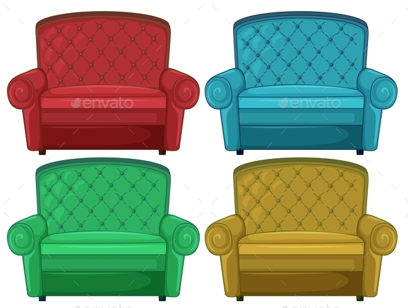 GraphicRiver Four Colorful Couches 11610939