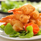 Fried Shrimp with vegetable on white plate - PhotoDune Item for Sale
