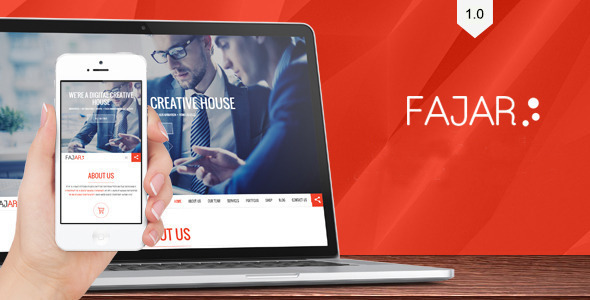 ThemeForest Fajar one page creative theme 11610973