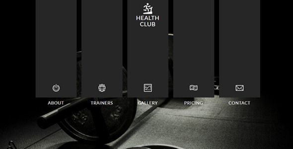 Health Club Muse Template