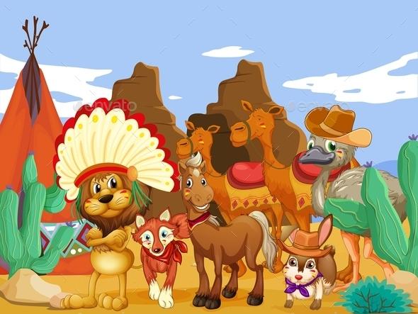 GraphicRiver Animals and Desert 11611140