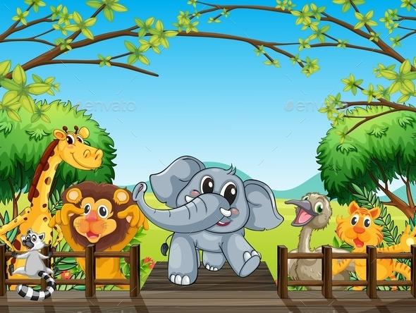 GraphicRiver Group of Wild Animals 11611217