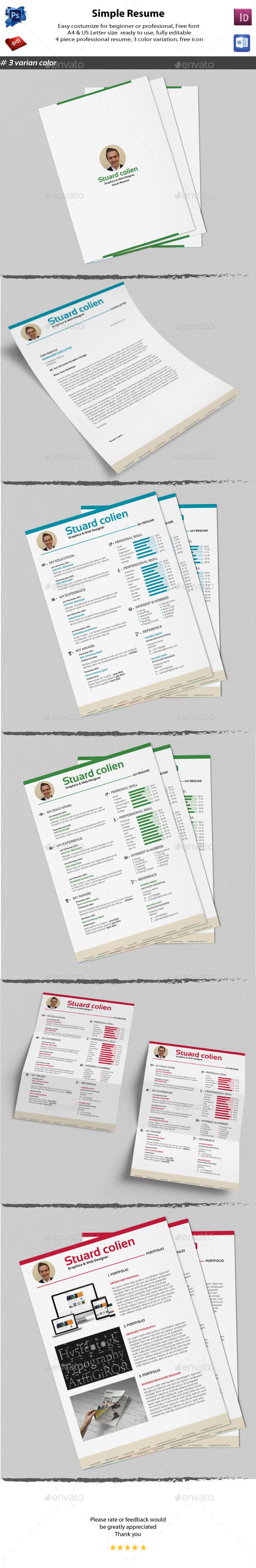 GraphicRiver CV Clean Resume 11492086