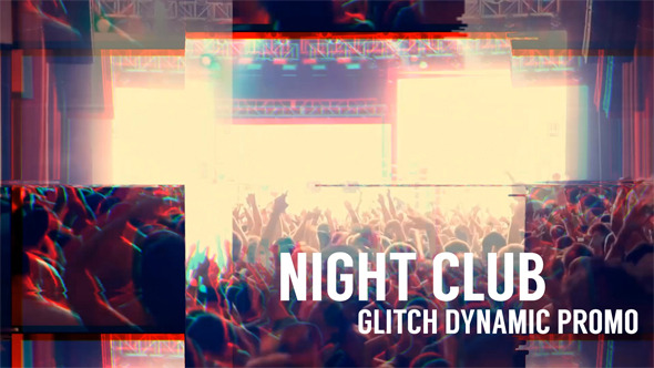 Night Club Glitch Dynamic Promo