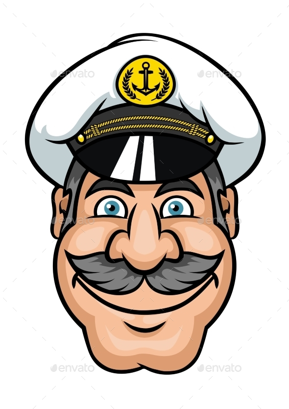GraphicRiver Mustached Sailor or Ship Captain 11611862