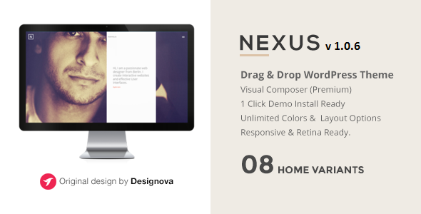NEXUS - Multi Layout Portfolio WordPress Theme