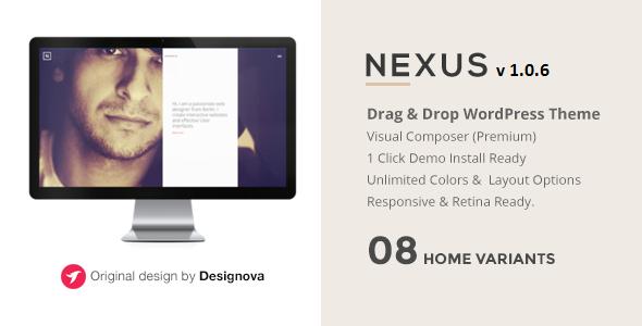 NEXUS - Multi Layout Portfolio WordPress Theme