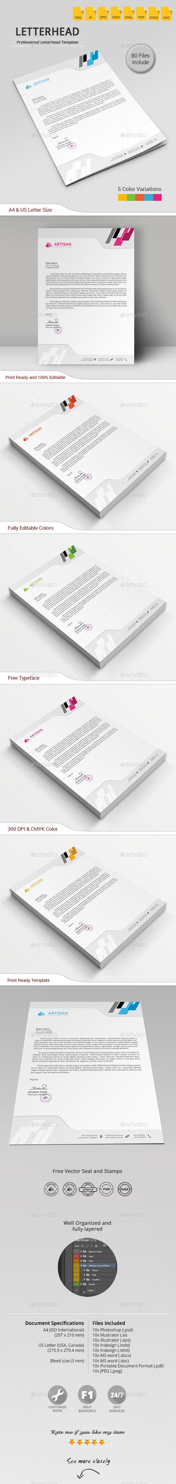GraphicRiver Letterhead 11612278