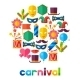 Celebration Festive Background with Carnival Icons - GraphicRiver Item for Sale
