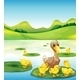 Duck and Her Ducklings at the Pond - GraphicRiver Item for Sale