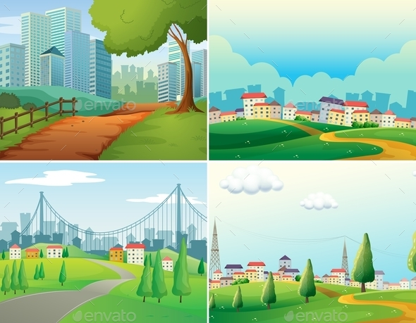 GraphicRiver Cities and Parks 11612645