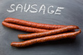 dried sausages on chalkboard - PhotoDune Item for Sale
