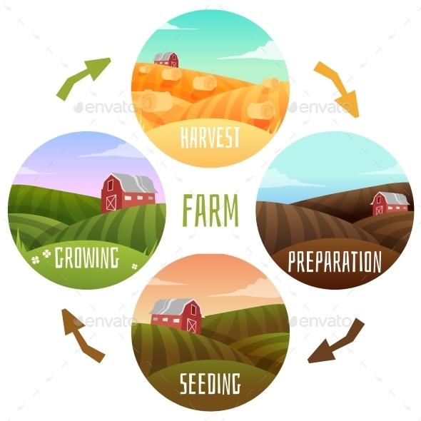 GraphicRiver Farm Landscape 11612915