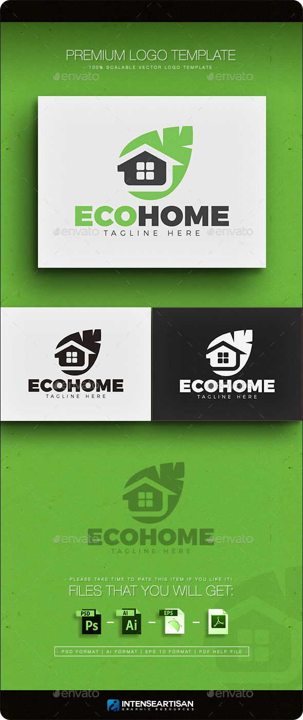 GraphicRiver Eco Home Logo 11612976