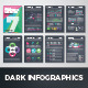 Dark Infographic Brochure Vector Elements Kit 7 - GraphicRiver Item for Sale