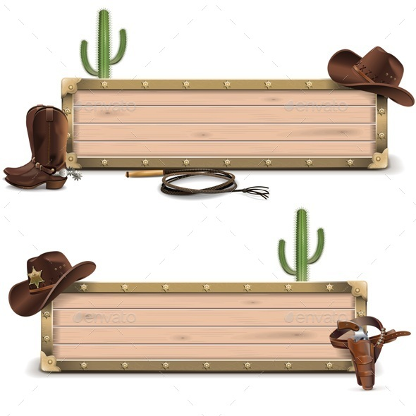 GraphicRiver Cowboy Signboards 11613030