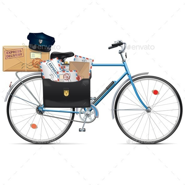 GraphicRiver Vector Postal Bicycle 11613125