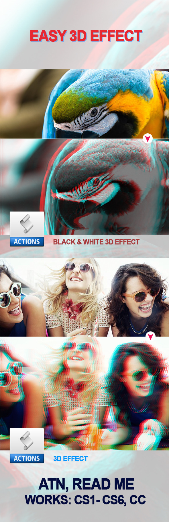 GraphicRiver Easy 3D Effect PS Action 11613152