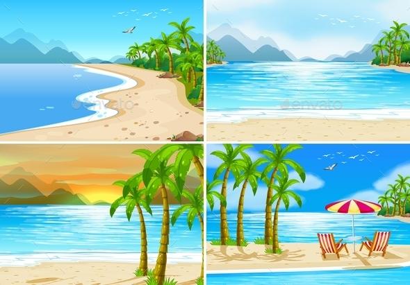GraphicRiver Beach Scenes 11613400