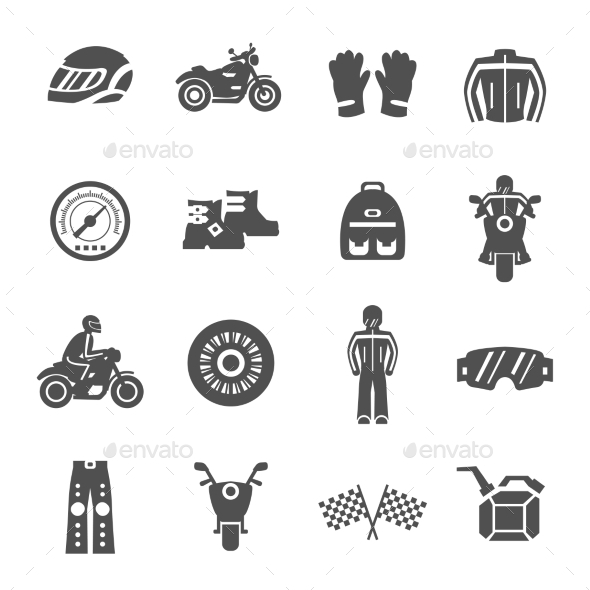 GraphicRiver Rider Icons Set 11613466