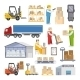 Warehouse Icons Flat - GraphicRiver Item for Sale