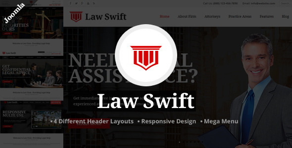 ThemeForest Law Swift Lawyer & Notary Joomla Template 11613600