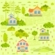 Houses Seamless - GraphicRiver Item for Sale