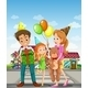 Happy Family in the Pedestrian Lane - GraphicRiver Item for Sale