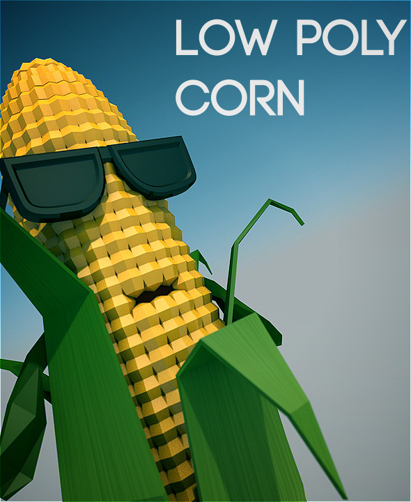 Low poly corn character - 3DOcean Item for Sale
