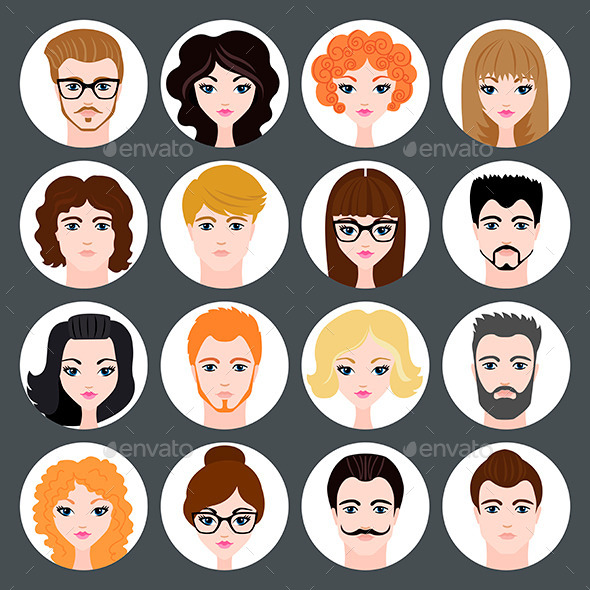 GraphicRiver Avatars of Girls and Guys 11613824
