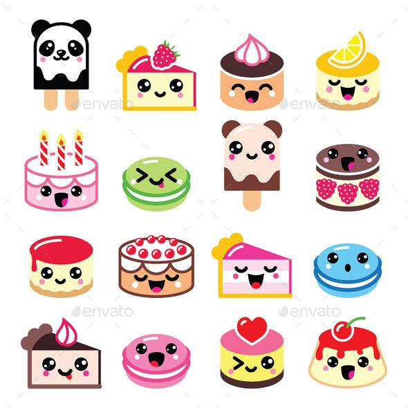 GraphicRiver Kawaii Desserts 11613885