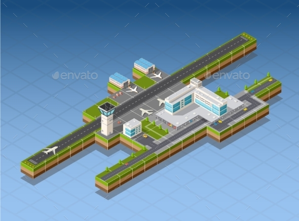 GraphicRiver Airport Terminal 11613899