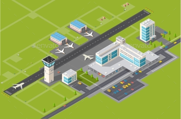 GraphicRiver Airport Terminal 11614009
