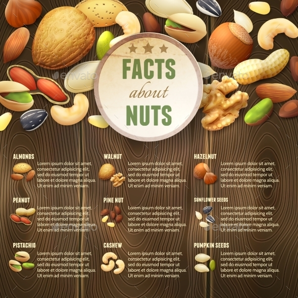 GraphicRiver Nuts on Wooden Background 11614164