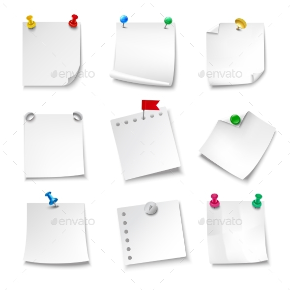 GraphicRiver Blank Note Papers 11614187