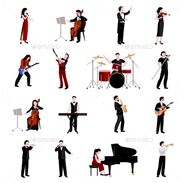 GraphicRiver Musicians Icons Set 11614192
