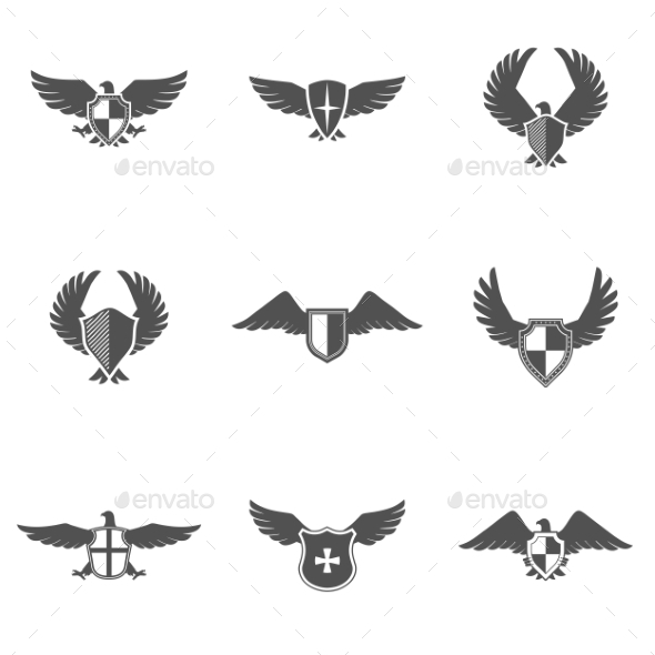 GraphicRiver Eagle Icon Shield Set 11614197