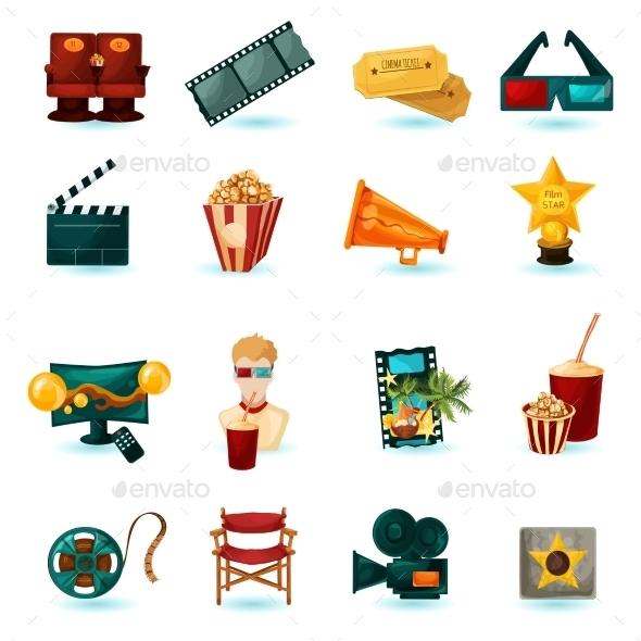 GraphicRiver Cinema Icons Set 11614292