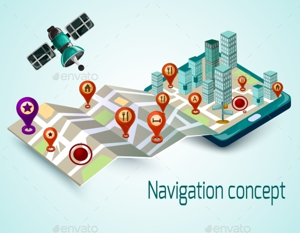 GraphicRiver Mobile Navigation Concept 11614304