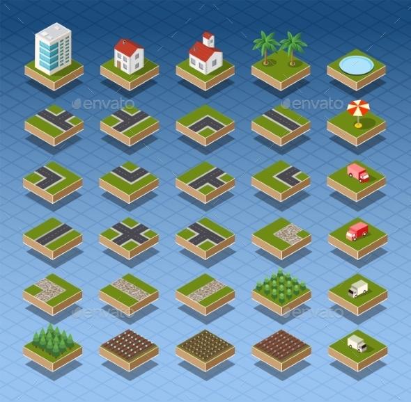 GraphicRiver Isometric City Map 11614349