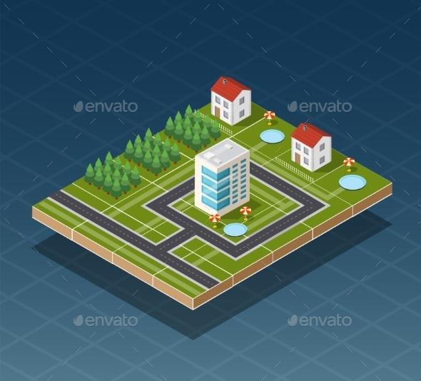 GraphicRiver Isometric City Map 11614358