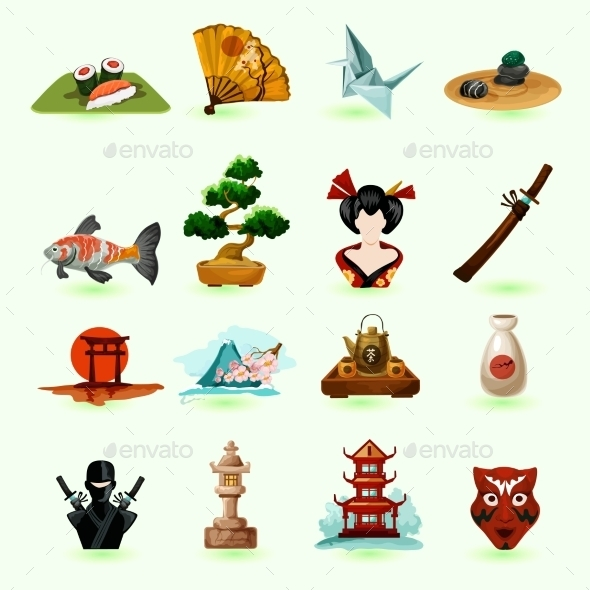 GraphicRiver Japan Icons Set 11614367