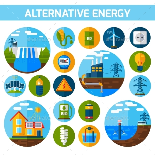 GraphicRiver Alternative Energy Icons Set 11614376