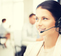 female helpline operator in call center - PhotoDune Item for Sale
