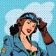 Pin Up Girl Pilot - GraphicRiver Item for Sale