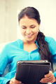 happy woman with tablet pc computer - PhotoDune Item for Sale