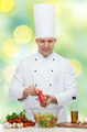 happy male chef cook cooking food - PhotoDune Item for Sale