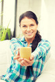 lovely housewife with mug - PhotoDune Item for Sale