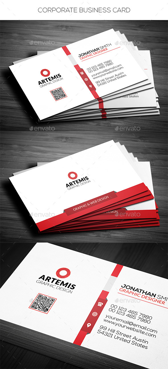GraphicRiver Simple Corporate Business Card 11614799